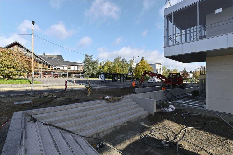 Station Beaulieu-Université - Octobre 2020 - Poursuite du second oeuvre et aménagements extérieurs