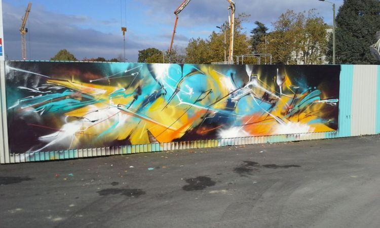 Station Joliot-Curie - Graffeur et peintre : Gloire et Herber