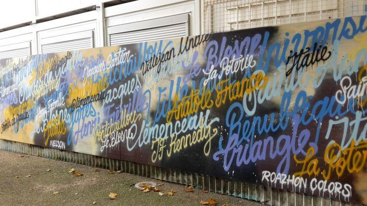 Station Sainte-Anne - Graffeur et peintre : Nelson Kifesa
