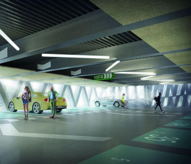 Parc relais Saint-Jacques - Gaîté - Vue intérieure - © TETRARC Architectures - Image non contractuelle
