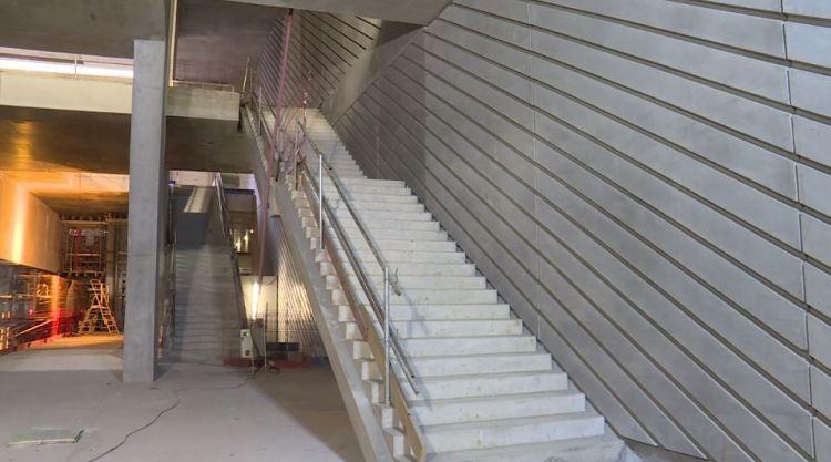 Station Gros-Chêne - Janvier 2018 - Finition du gros oeuvre