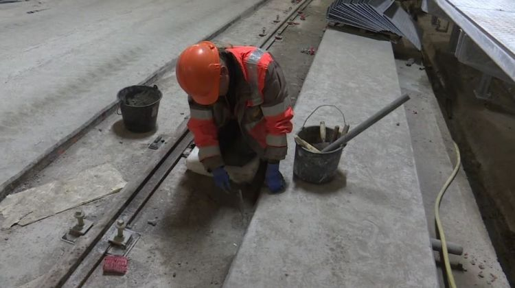 Station Saint-Jacques - Gaîté - Mai 2018 - Second oeuvre et équipement du tunnel