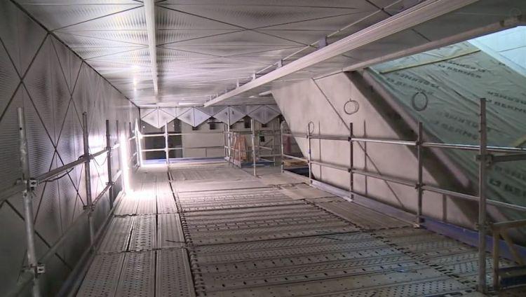 Station Mabilais - Juillet 2018 - Pose parements murs et plafonds
