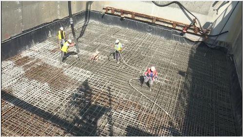 Puits de sortie du tunnelier - aout 2018 - Fermeture du puits