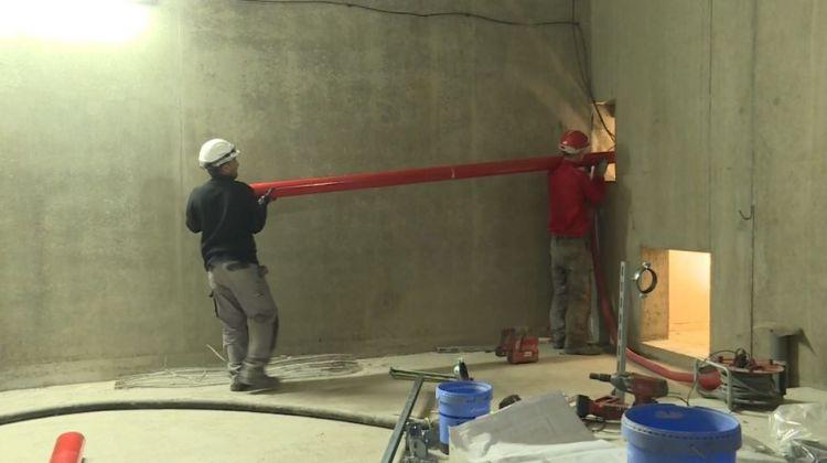 Station Jules Ferry - Septembre 2018 - Installation des systèmes de canalisations d'incendie