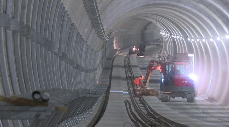Station Mabilais - Avril 2019 - Second oeuvre et ferraillage des voies
