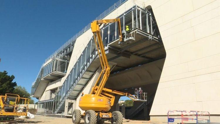 Station Beaulieu-Université - Septembre 2019 - Ferraillage des voies et second oeuvre