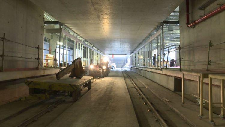 Station Joliot-Curie - Chateaubriand - Décembre 2019 - Installation des portes palières