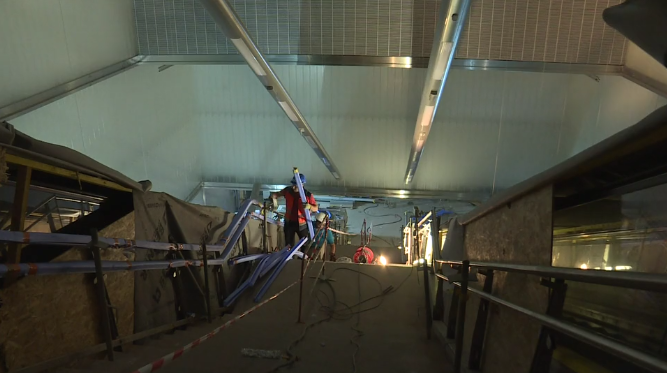 Station Gares - Juin 2020 - Pose des menuiseries aluminium et du carrelage